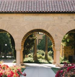 Stanford's historic arches.